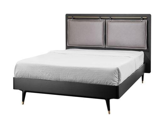 Dean Upholstered Double Bed, Black