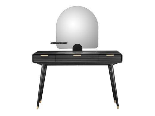 Dean Vanity Desk With Mirror, Black