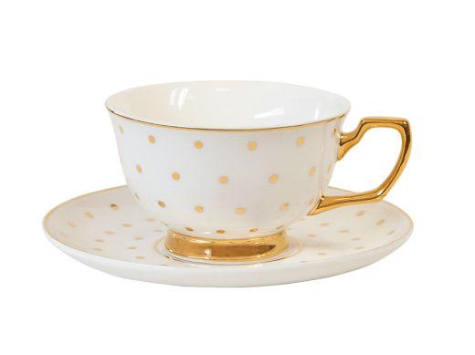 Teacup Polka Gold