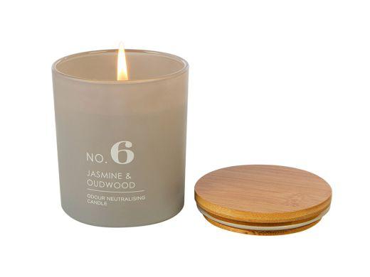 No6. Jasmine & Oudwood Candle
