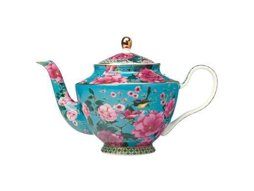 Silk Road Teapot with Infuser Aqua