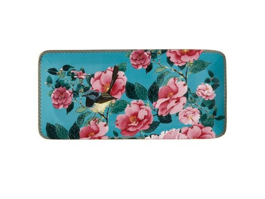 Silk Road Rectangular Platter 33x15 cm Aqua