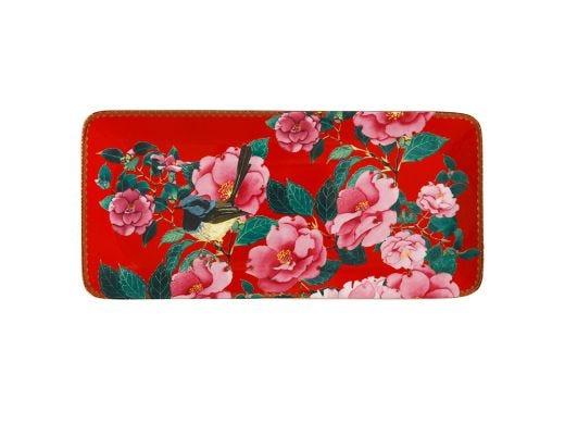Silk Road Rectangular Platter 33x15 cm Red