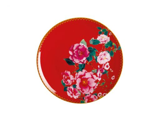 Silk Road Coupe Plate 19.5cm Red