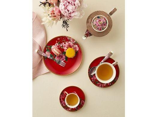 Silk Road Teaspoon Set/4 Red