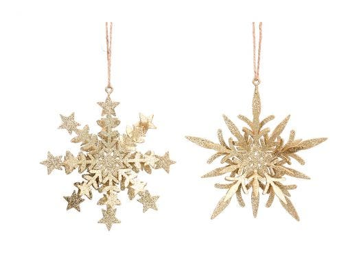 Gold Layered Snowflake Assorted