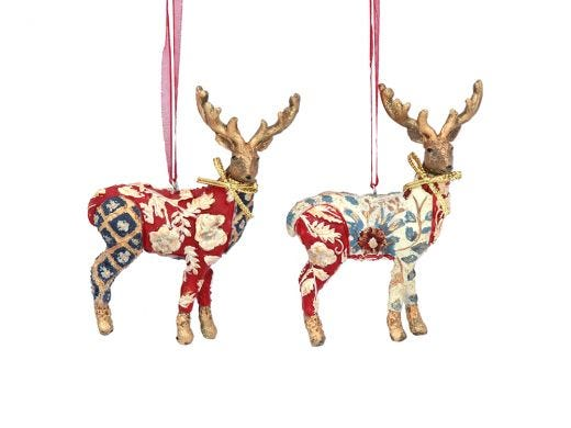 Patchwork Stag Decor Assorted