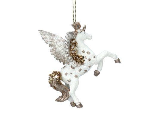 White & Gold Unicorn Decor