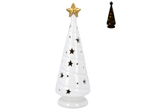 White Christmas Tree with LED