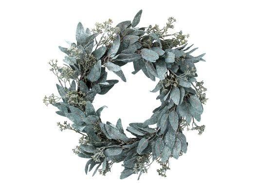 Frosted Eucalyptus Wreath 50cm