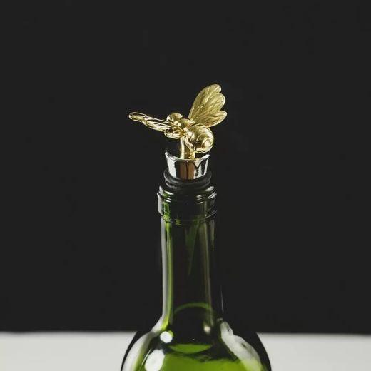 Gold Bee Wine Bottle Stopper