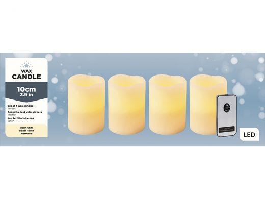 Remote LED Flickering Candle Set/4