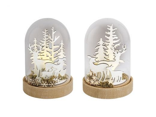 Forest Scenery LED Glass Dome Assorted