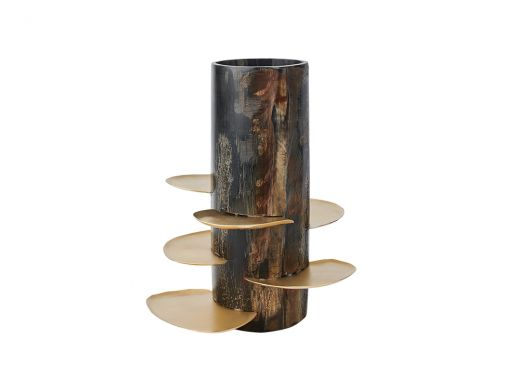 Trumphy Horn Vase with Tealight Plates