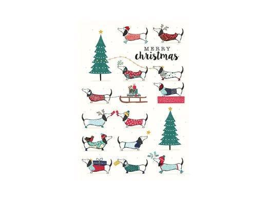 Dogs On Holiday Christmas Card