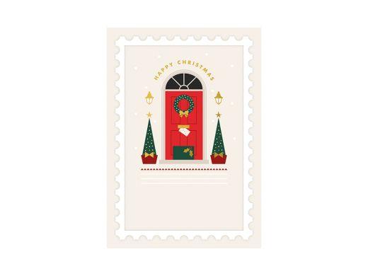 Entrance Decor Christmas Card