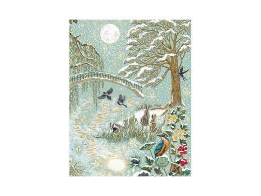 Snow Scene Christmas Card Trio Box (12p)