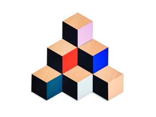 Block Tile Coasters, Set of 6