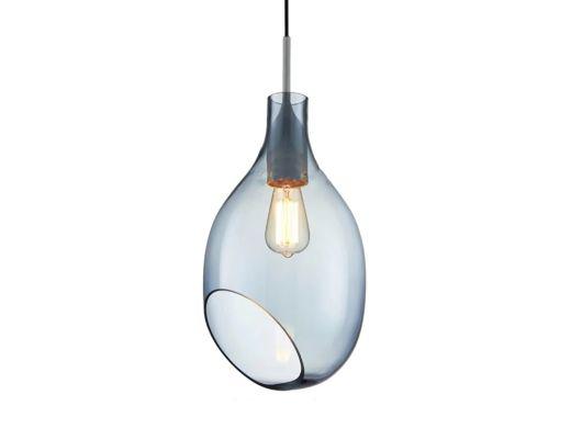 Arlo Cut pendant lamp, Blue