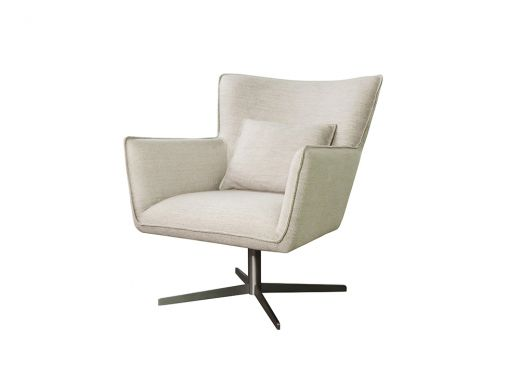 Jacob Swivel Chair, Alcott Ivory
