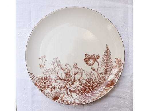 Flora Coupe Dinner Plate 26.5cm, Red