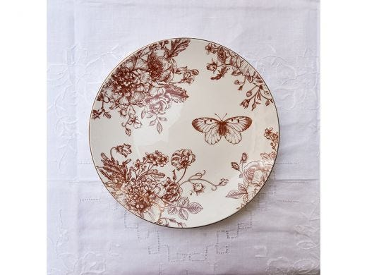 Flora Coupe Side Plate 21cm, Red