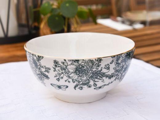 Flora Big Bowl 18cm, Dark Green