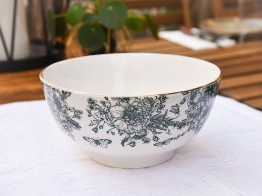 Flora Cereal Bowl 15cm, Dark Green
