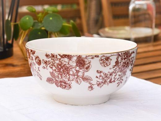 Flora Cereal Bowl 15cm, Red