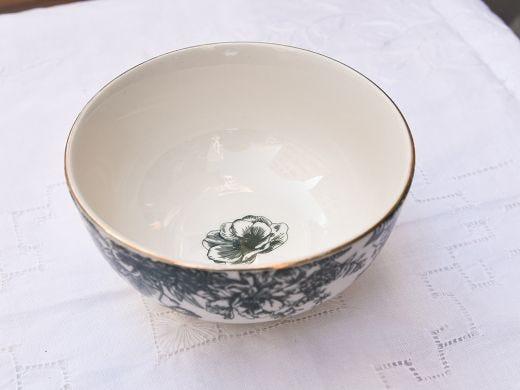 Flora Small Bowl 12cm, Dark Green
