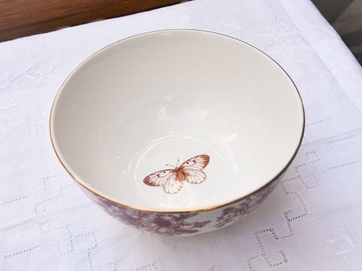 Flora Small Bowl 12cm, Red