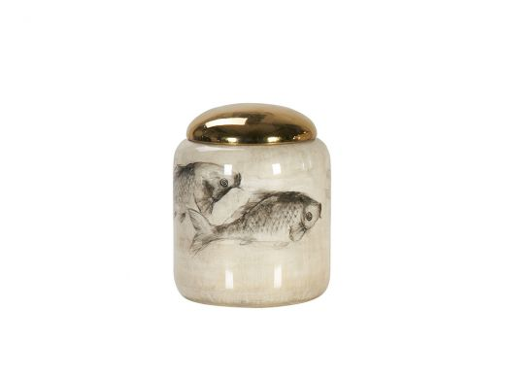 Carp Vase Jar, Low