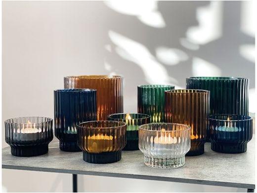 Volta Glass Bucket Vase, Green
