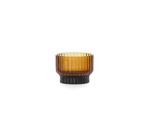 Volta Tealight Candle Holder, Amber