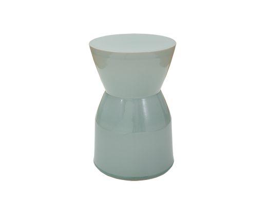 Crackled Sage Ceramic Stool