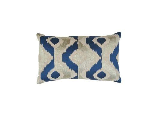 Virgil Ikat Cushion Cover, Azure 50x30cm