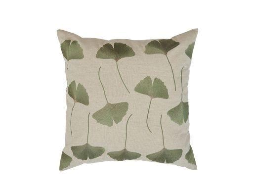 Ginko Cushion Cover, Green 50x50cm