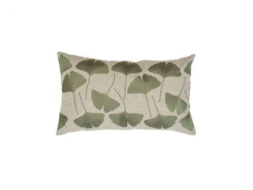 Ginko Cushion Cover, Green 50x30cm