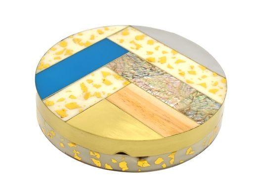 Luna Inlaid Circular Box