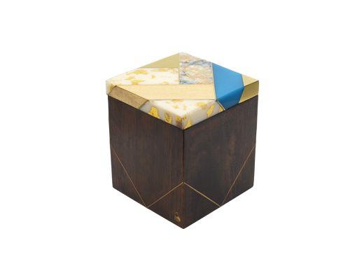 Luna Inlaid Small Square Box
