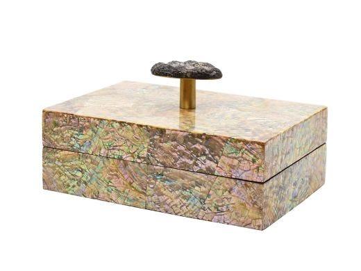 Luna Upcycled Abalone and Pebble Box