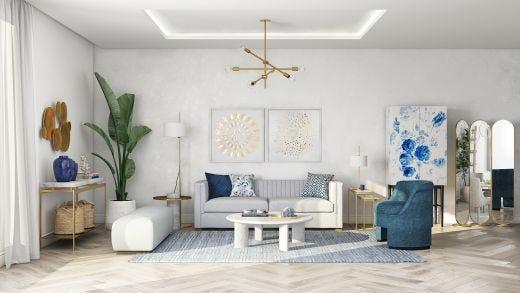 Filippa 3 Seat Sofa, White