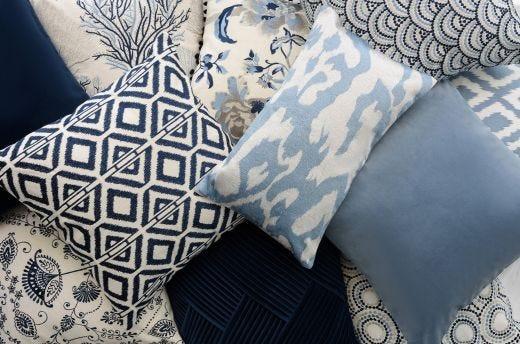 Light Blue Velvet Cushion Cover 50x50cm