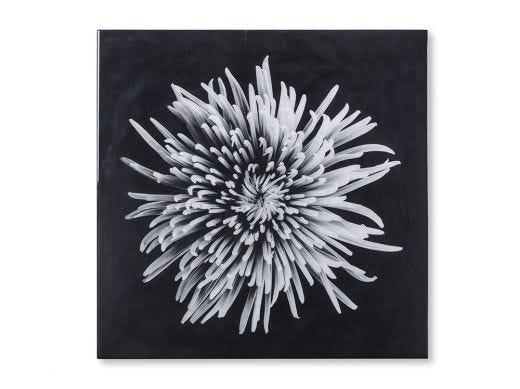 Black & White Flower, Epoxy A Wall Art