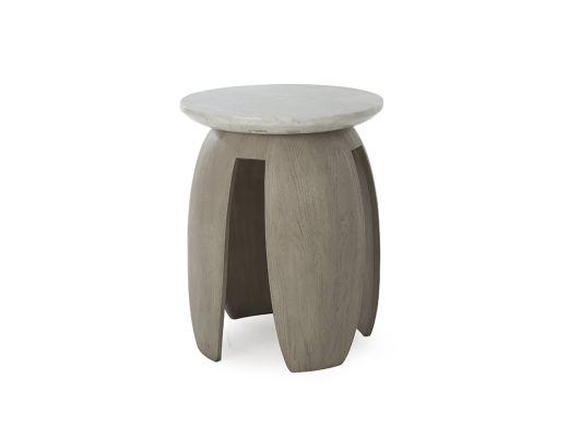Gray Pedestal Table