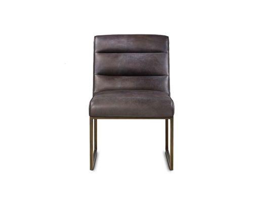 Noah Side Chair - Saddle Brown