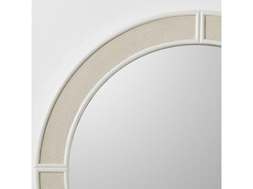 Alice Mirror Round, Ivory Shagreen