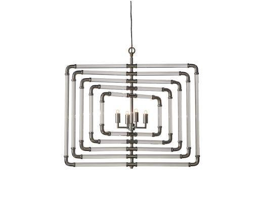 Spiral Acrylic Stream, Ceiling Light