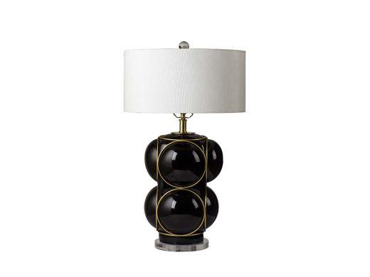 Bubble Bubble Table Lamp, Black & Gold