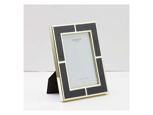 Black Gold Brass Frame-4'x6'